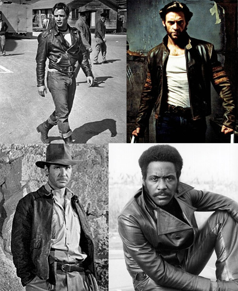 There are different jackets for different kinds of heroes. Start with the classic motorcycle jacket, as seen on Brando from The Wild One